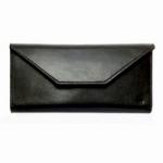 Кожаный кошелек Envelope (black)