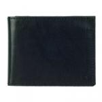Кожаный кошелек Slim (black)
